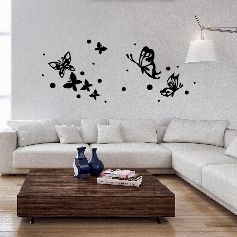 Decorazioni adesive in gomma butterflies silhouettes for Decorazioni adesive per pavimenti