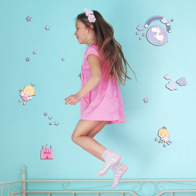 Decorazioni adesive per pareti 3l con effetto 3d happy fairies acquista da obi - Tavole adesive per pareti 3d ...
