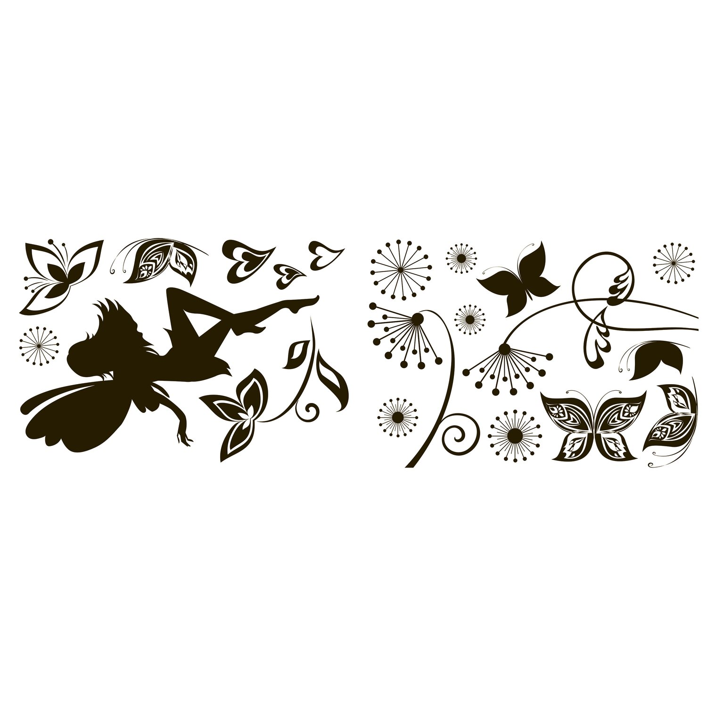 Decorazioni adesive per parete fatina e farfalle acquista for Decorazioni adesive