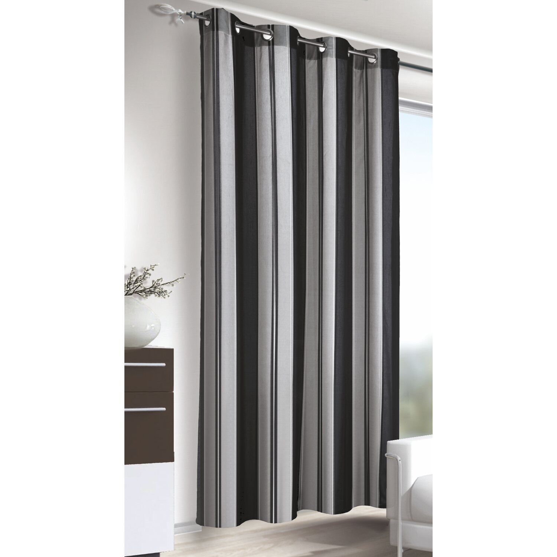 Tenda con anelli a strisce verticali colore nero argento for Opzioni di rivestimenti verticali