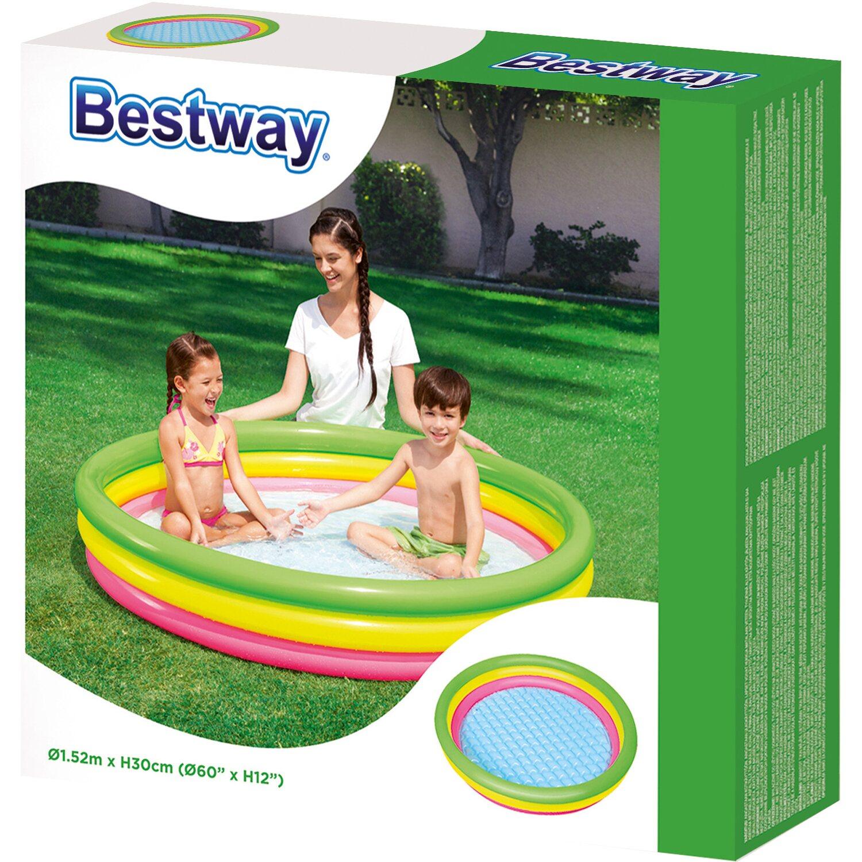 Bestway piscina gonfiabile 3 anelli Ø 152 cm X 30 cm