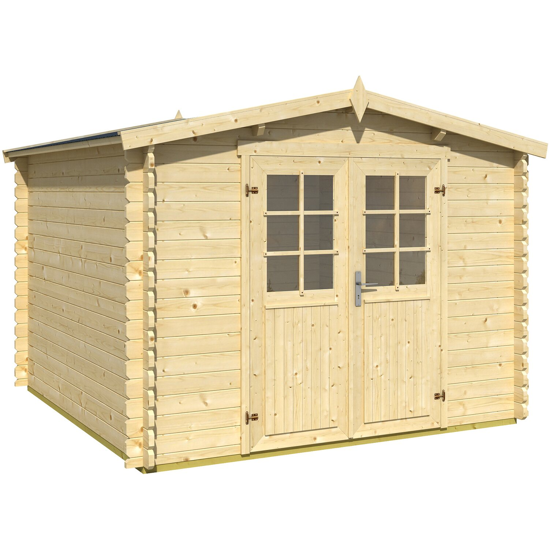 Casetta blockhouse in legno tosca acquista da obi for Recinzioni in legno obi