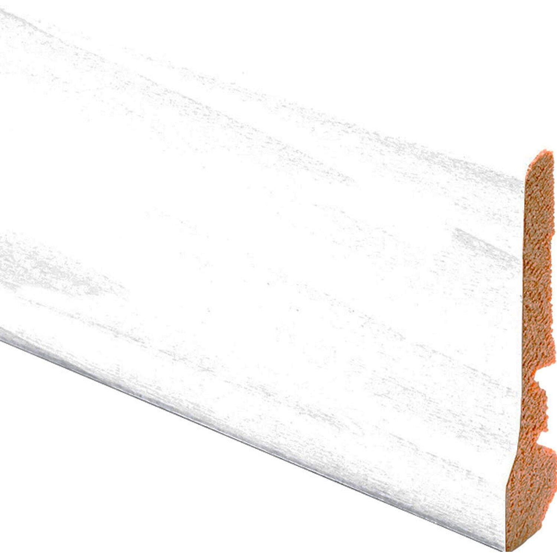 Battiscopa In Legno Bianco battiscopa con piede in ayous bianco 7 cm