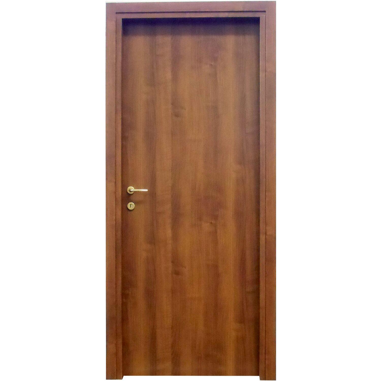 Porta a battente reversibile badia noce 210 cm x 80 cm for Carrello porta ombrellone e sdraio