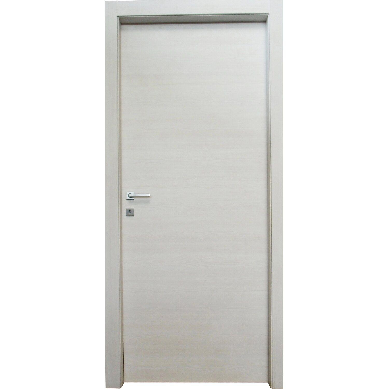 Porta A Battente Reversibile Thuile Acero Neve 210 Cm X 70