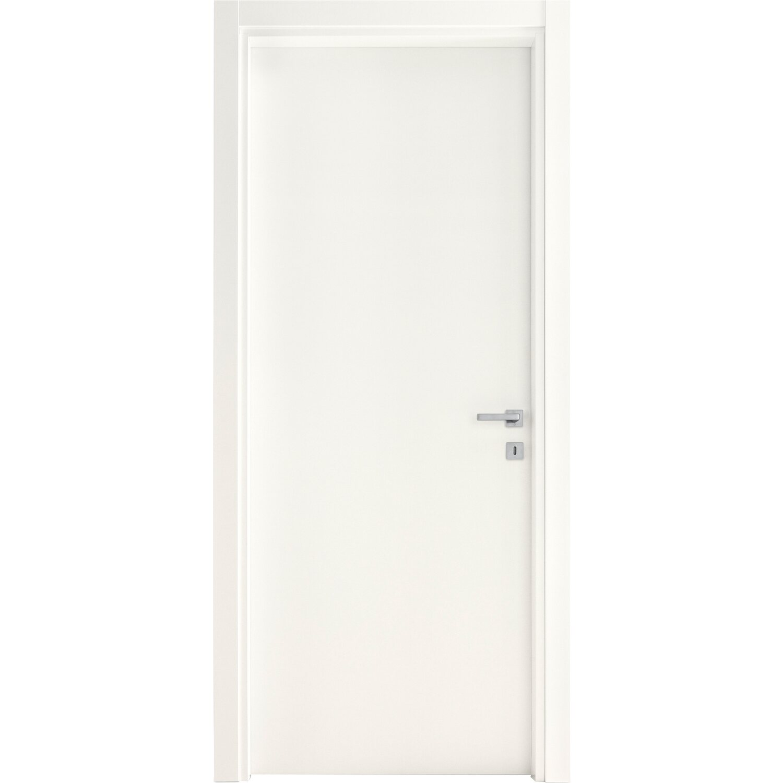 Porta a battente reversibile Badia bianca 210 cm x 80 cm