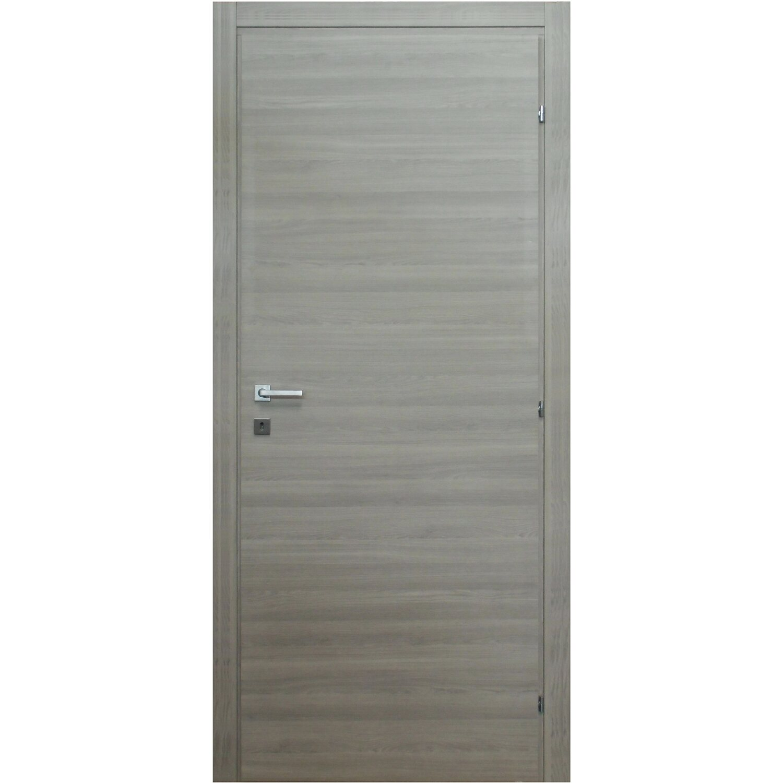 Porte Da 70 Cm.Porta A Battente Reversibile Thuile Grigio Quarzo 210 Cm X 70 Cm
