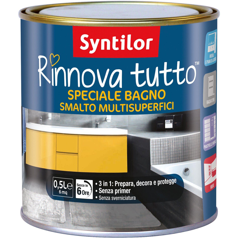 Pittura Per Piastrelle Colori smalto all`acqua speciale per bagno effetto azzurro 0,5 l