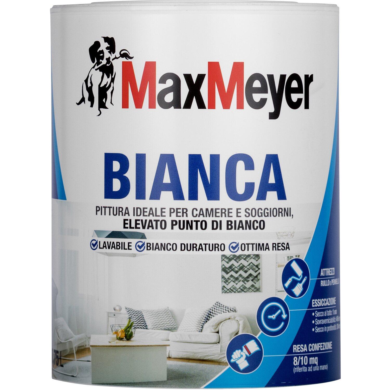 Pittura Bianca Per Interni Obi.Maxmeyer Idropittura Lavabile Classica Bianca 0 75 L Acquista Da Obi