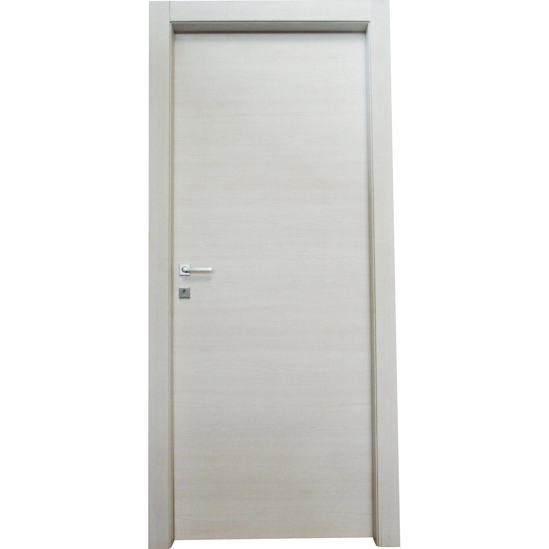 Porta a battente reversibile thuile acero neve 200 cm x 70 for Porte 60 x 200