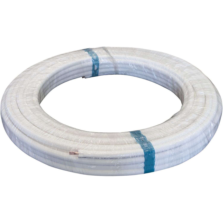 Rotolo di tubo rame rivestito per clima 1 4 x 50 m for Tubo di rame a pex