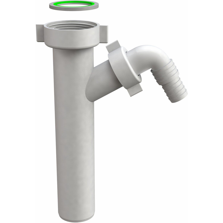 Tubo Scarico Lavandino Bagno attacco lavatrice su tubo flangiato con deflettore antiriflusso