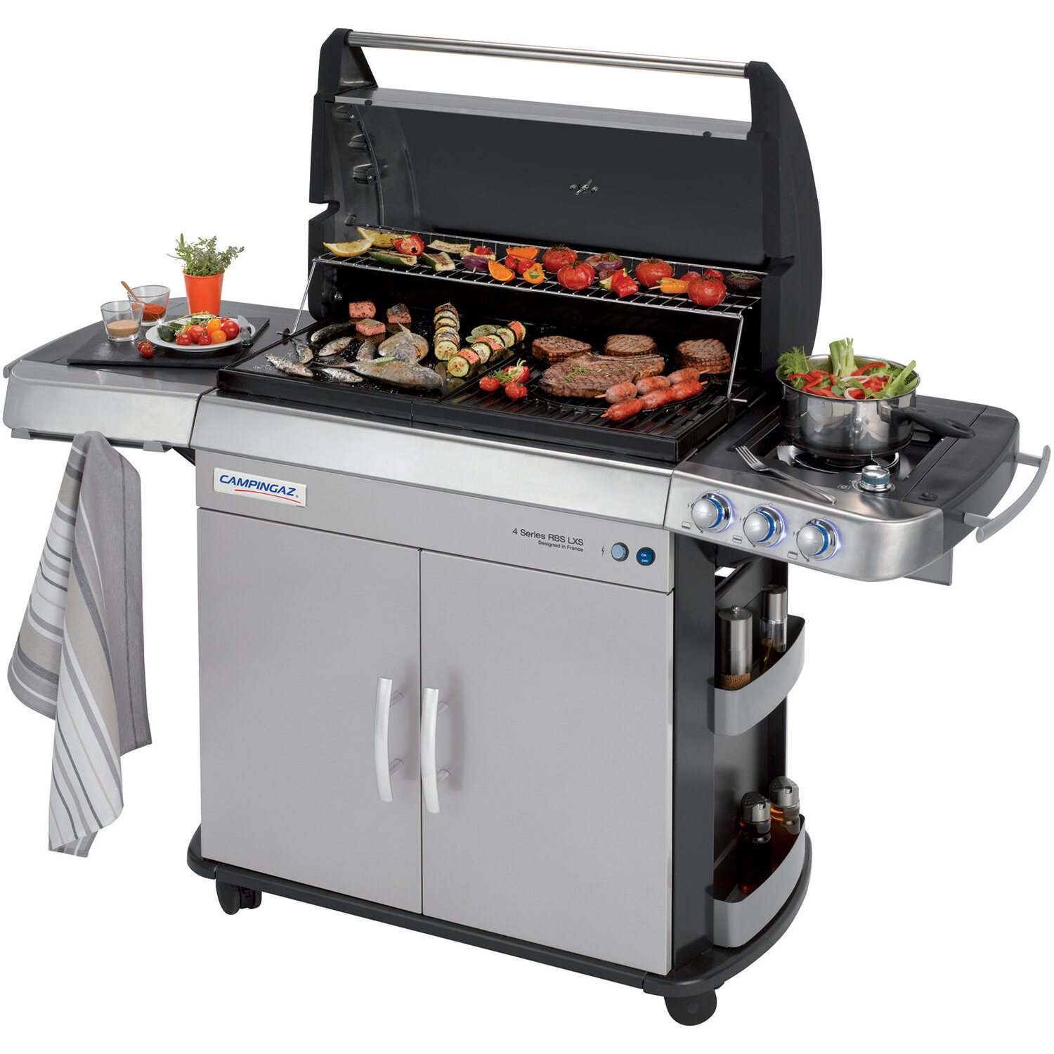 Campingaz barbecue a gas 4 series rbs lxs acquista da obi for Obi barbecue