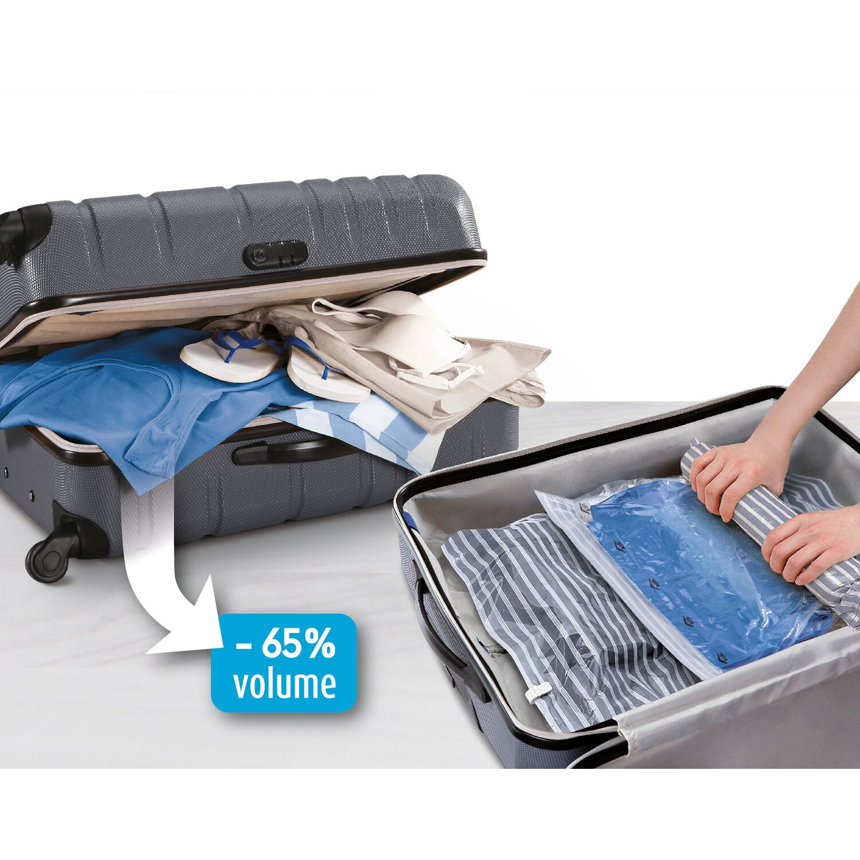 Domopak Living Sacco Sottovuoto Viaggio Set Da 3 Pz 40 Cm X 50 Cm