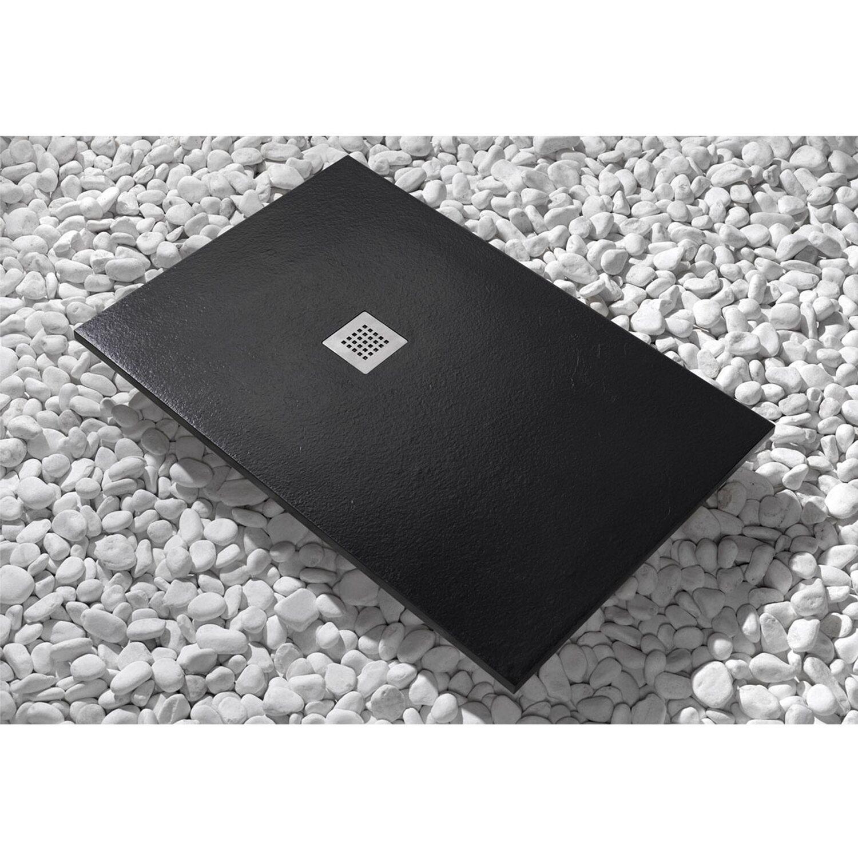 Piatto doccia newstone 100 cm x 80 cm nero acquista da obi - Piatto doccia nero ...