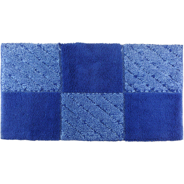 Tappeto bagno tile velluto 55 cm x 90 cm blu acquista da obi - Tappeto bagno blu ...