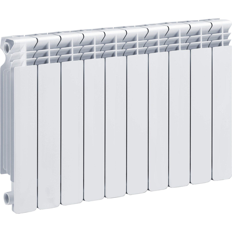 Radiatore helyos in alluminio interasse 50 cm 10 elementi for Obi radiatori