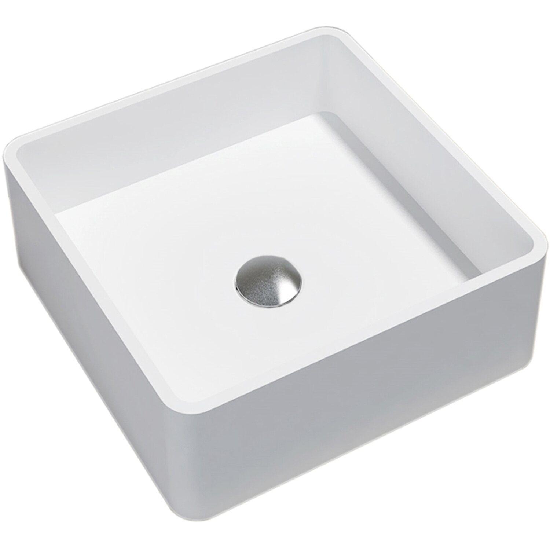 Lavabo Quadrato Appoggio Artana Bianco 40 Cm X 40 Cm X 15 Cm