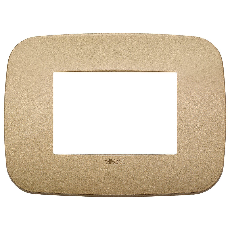Vimar ark placca round 3m tecnopolimero colore oro antico - Interruttori elettrici vimar ...