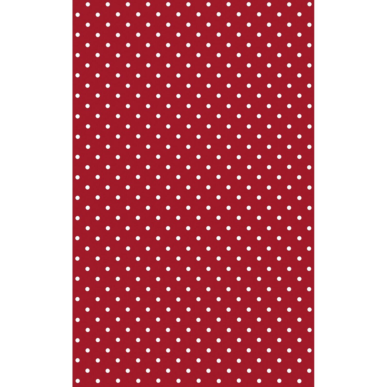 74ae5e0372 Plastica adesiva in minirotolo fantasia a pois rosso - bianco