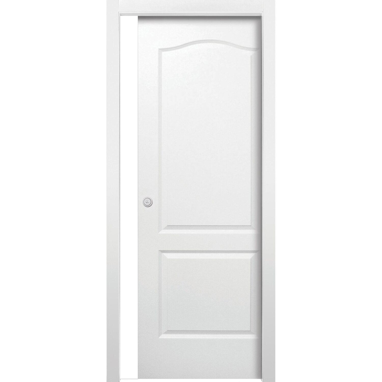 Porta scorrevole reversibile giulia bianco laccato 80 cm x - Telaio porta scorrevole prezzo ...