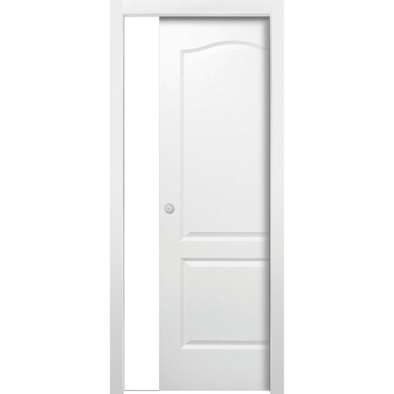 Porta scorrevole reversibile Giulia bianco laccato 80 cm x 210SCOR ...