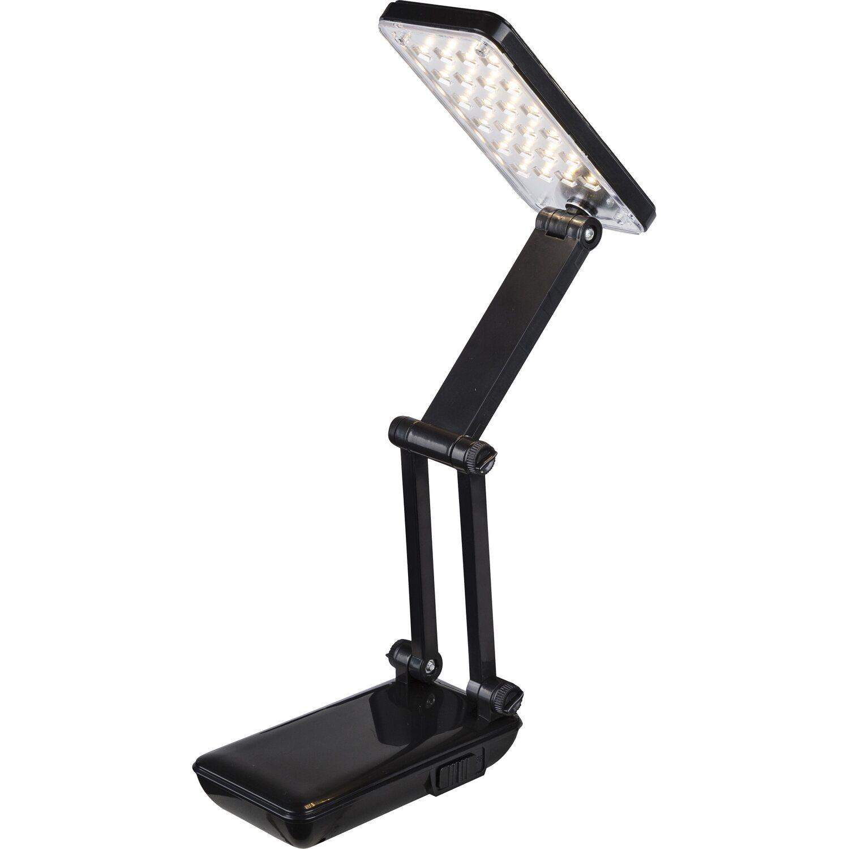 Lampada da scrivania led mapple plastica richiudibile nero for Lampade da scrivania a led