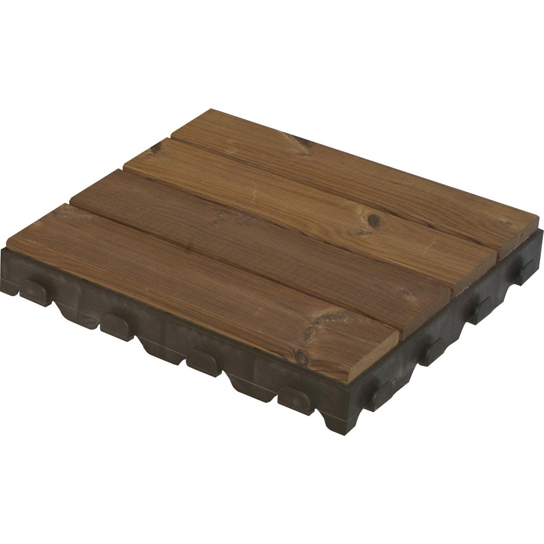 Piastrella a doghe di legno su resina combi wood 40 cm x - Piastrelle in legno da esterno ...
