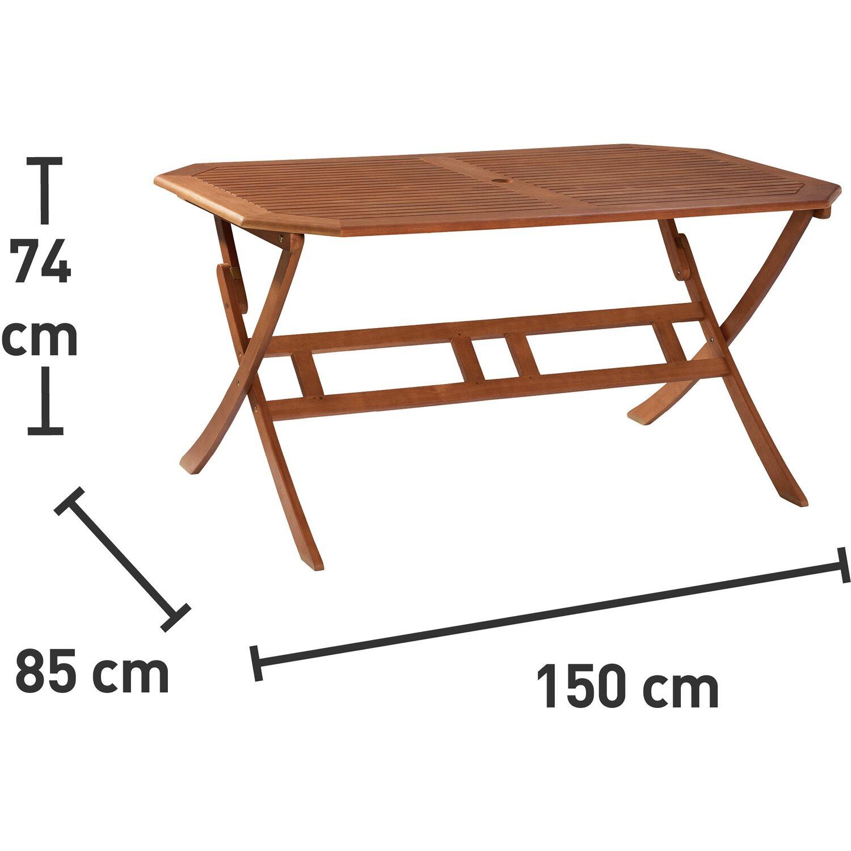 Tavoli Da Giardino In Legno Obi.Obi Tavolo Pieghevole Greenville 150 Cm X 85 Cm Obi