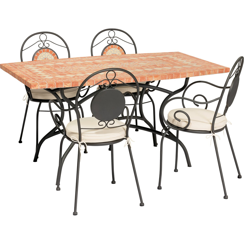 Tavoli E Sedie Da Giardino Obi.Sedia Mosaico Obi