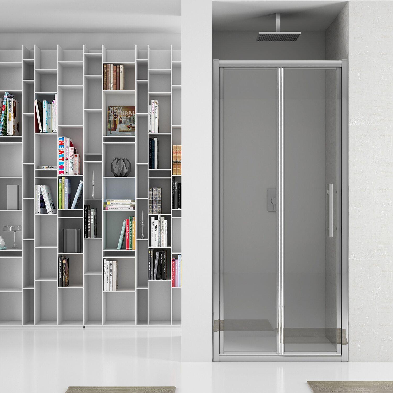 Porta doccia pieghevole newplus 77 81 cm in vetro for Obi box doccia