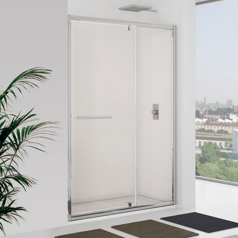 Porta doccia battente newplus con elemento fisso 117 121 for Obi box doccia