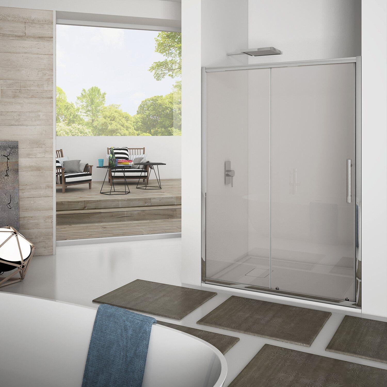 Porta doccia scorrevole newplus 137 141 cm in vetro - Porta doccia vetro ...