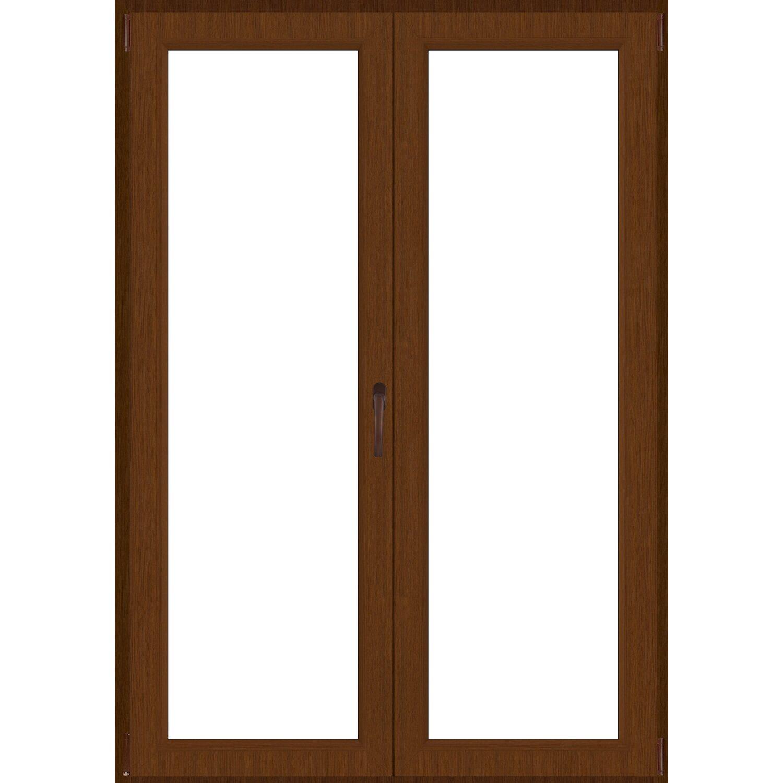 Portafinestra 2 ante 120 cm x 220 cm sinistra noce for Finestre roma prezzi