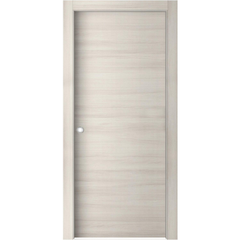 Porta scorrevole reversibile aspen olmo white 200 cm x 70 for Porte interne da obi prezzi