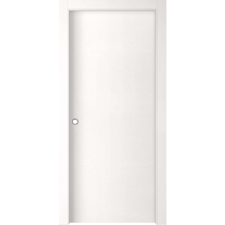 Porta scorrevole reversibile aspen bianco frassino 210 cm - Porte da interno obi ...