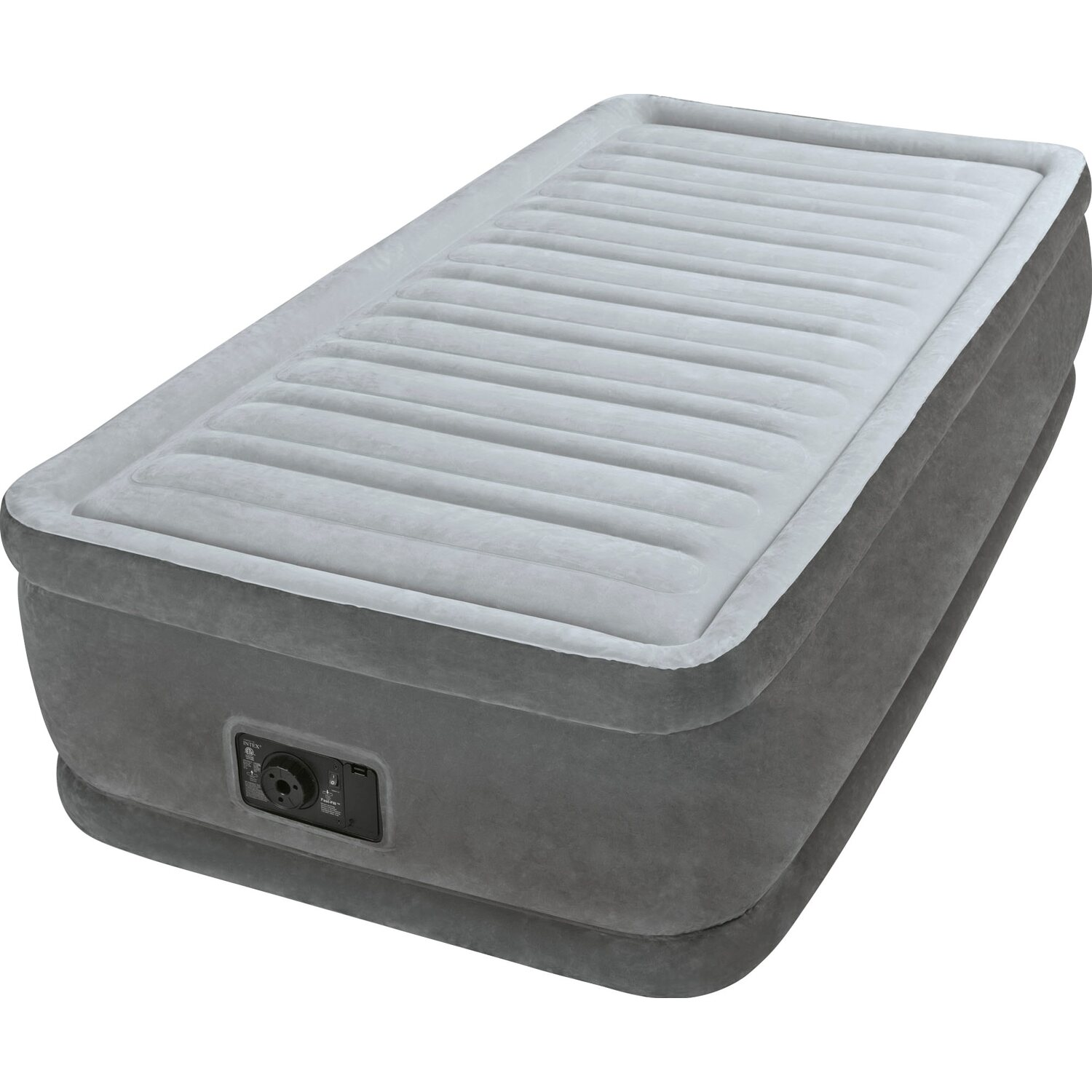 Materasso Letto Gonfiabile Airbed.Intex Materasso Comfort Plush Elevated Singolo 99 Cm X 191 Cm X 46