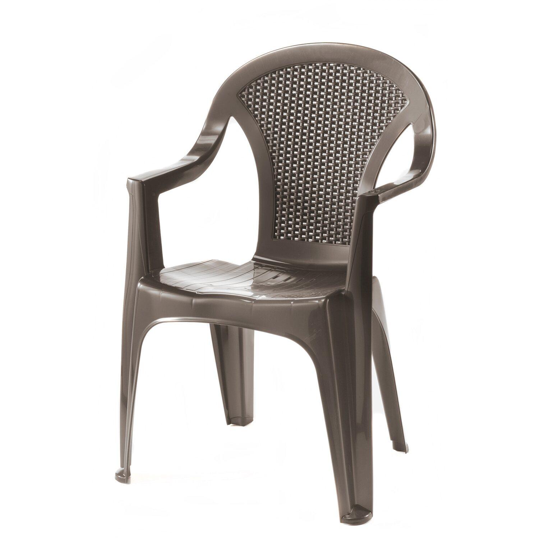 Sedie Di Plastica Pieghevoli.Sedia Monoblocco Kos Schienale Medio In Resina Obi