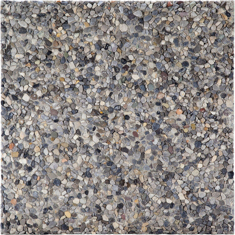Posa Pavimento A Secco Giardino pavimento lavato grigio 40 cm x 40 cm