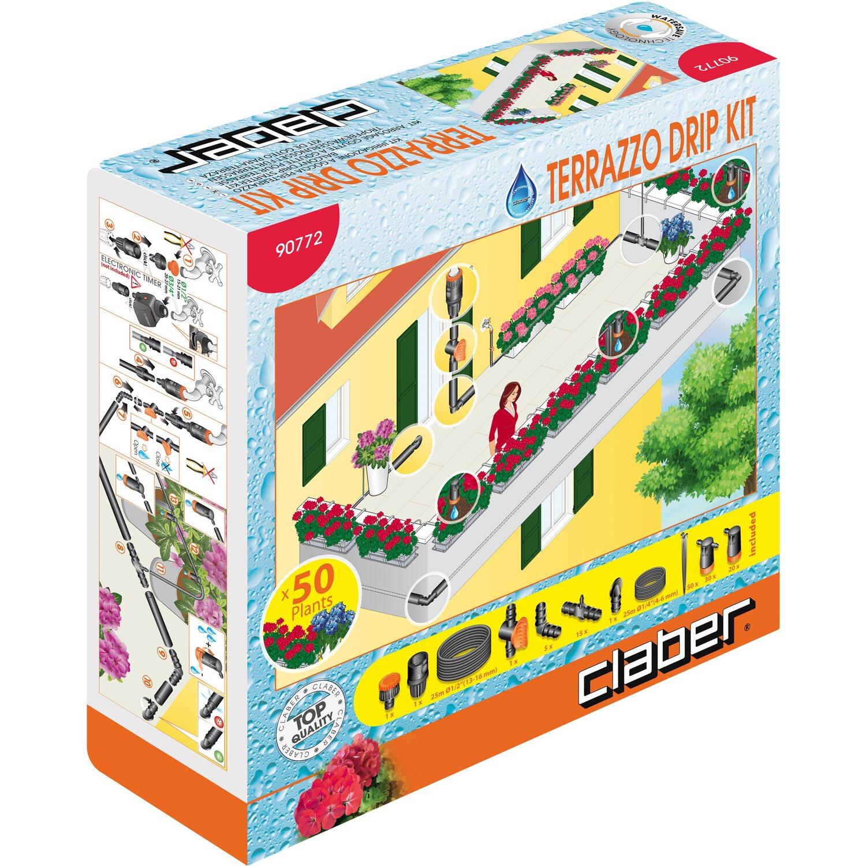 Claber kit irrigazione a goccia Terrazzo Drip Kit (50 piante ...
