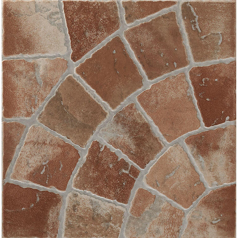 Piastrella gres porcellanato trevi rosso 32 5 cm x 32 5 cm for Bordure per aiuole obi