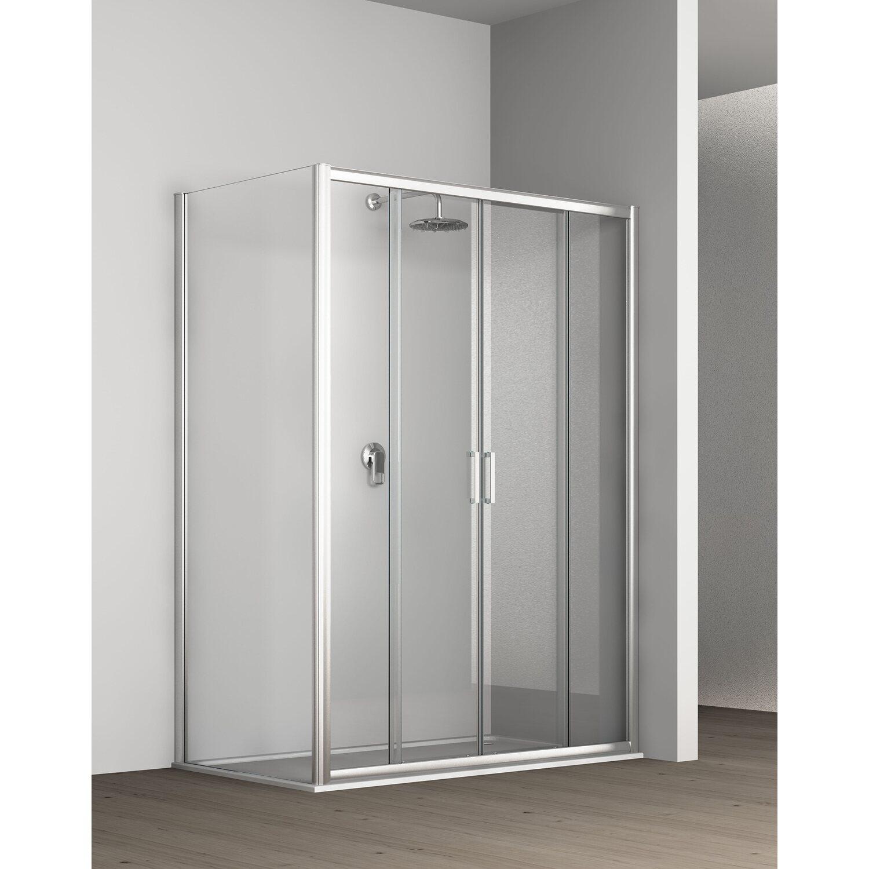 Porta doccia scorrevole 2 2 ante tekno 114 120 cm for Box doccia obi