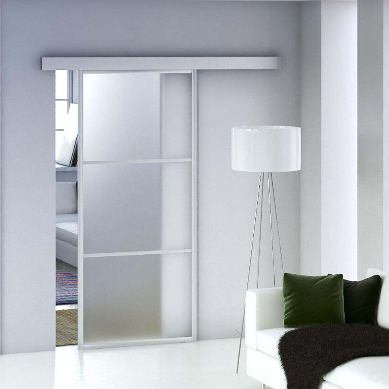 Porta scorrevole marte in vetro satinato acquista da obi - Porta scorrevole vetro satinato ...
