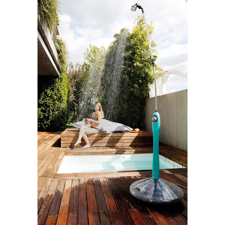 G f doccia solare sunny style blu petrolio acquista da obi for Obi doccia solare