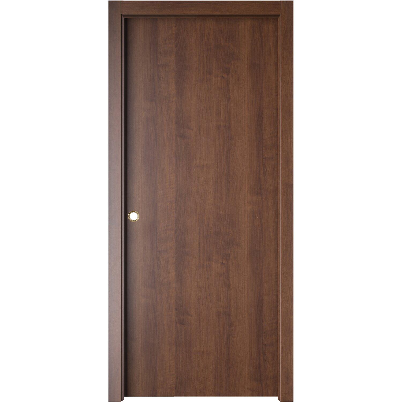 Porta scorrevole reversibile Badia noce 210 cm x 70 cm acquista da OBI