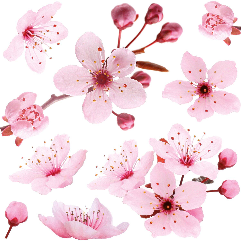 Decorazioni Fiori.Decorazioni Adesive Per Parete Ciliegio In Fiore Obi