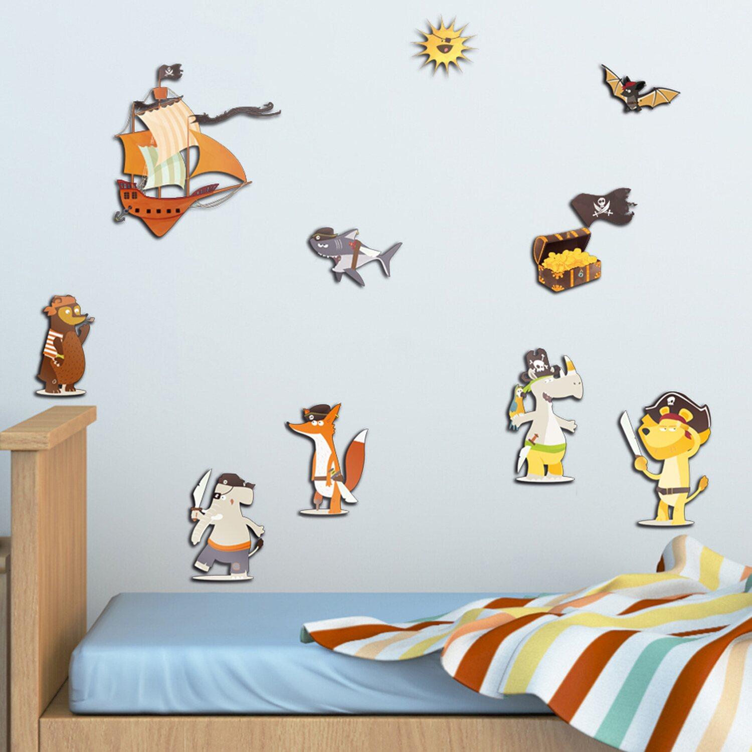 Decorazioni adesive per pareti 3l con effetto in 3d pirates acquista da obi - Tavole adesive per pareti 3d ...