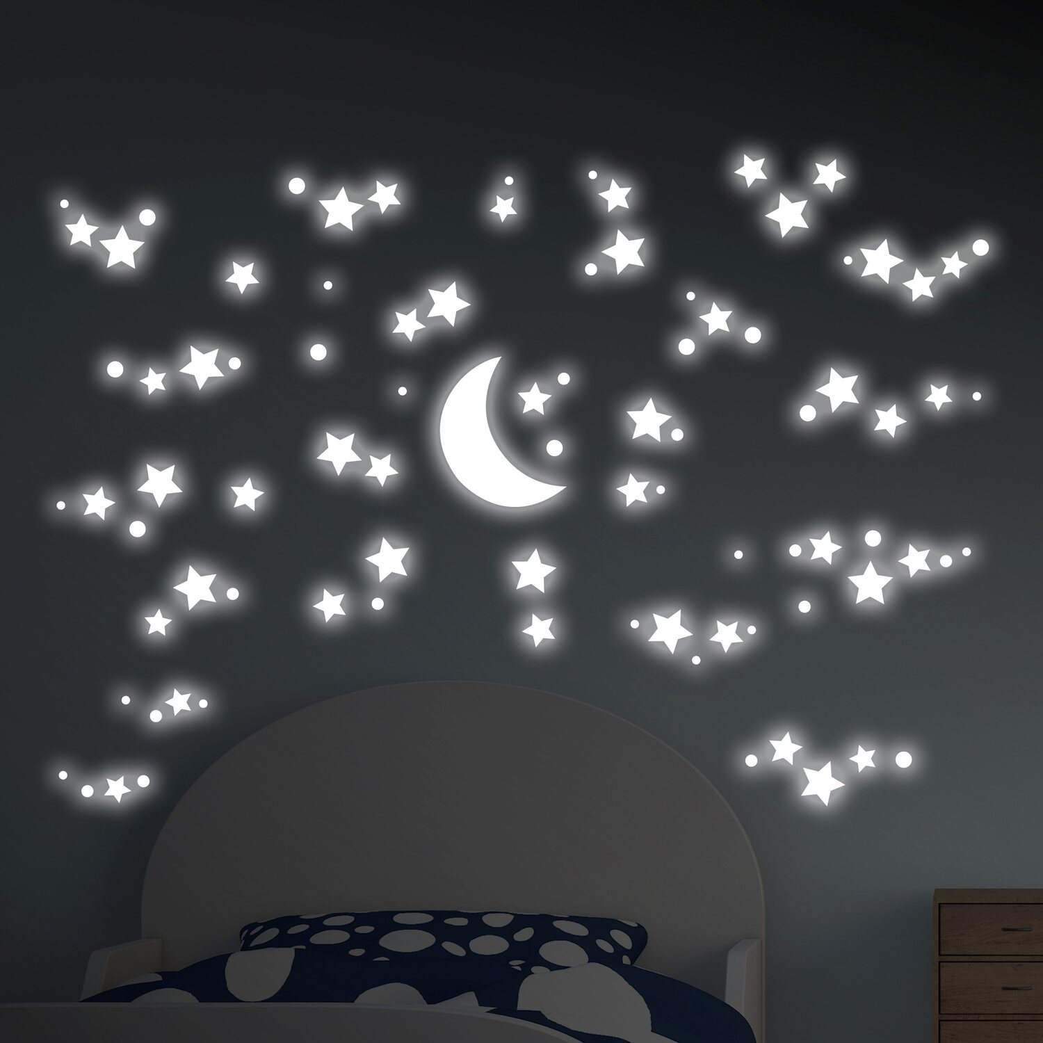 Decorazioni Adesive Per Parete Fosforescenti Starry Night Acquista