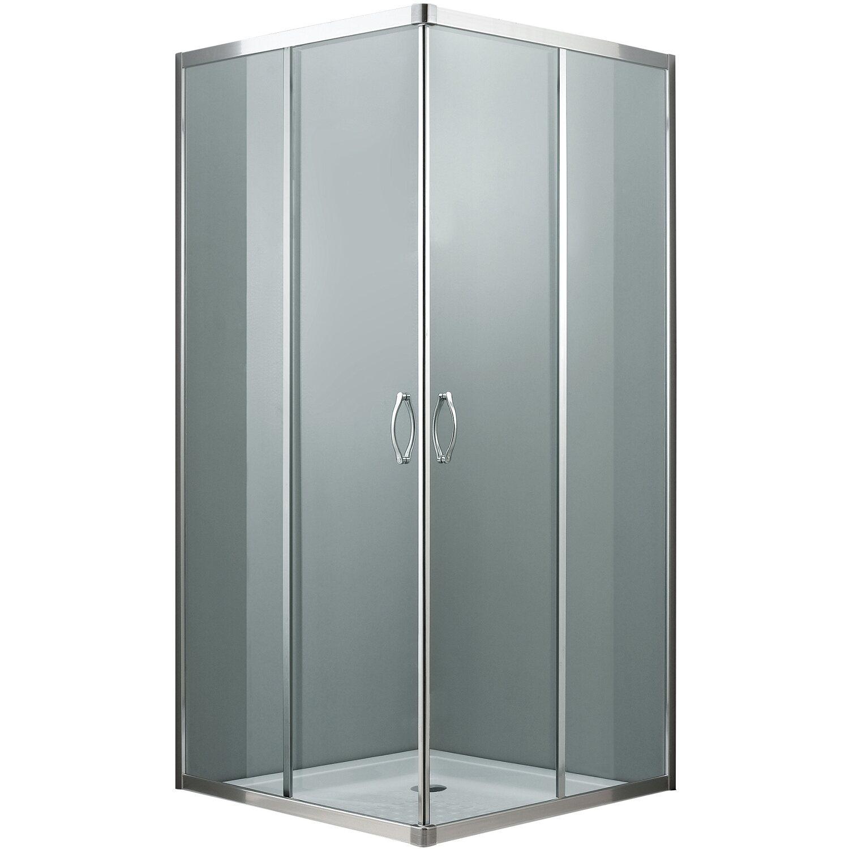 Box doccia quadrato in alluminio 77 cm x 77 cm acquista da obi for Box doccia obi