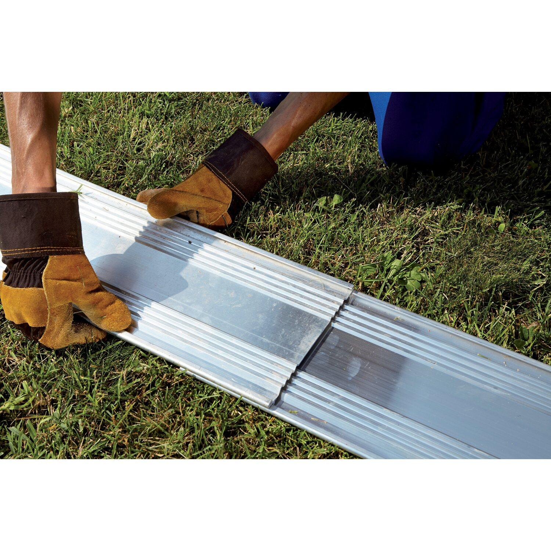 Bordura in alluminio alubord i 10 cm x 1 cm x 120 cm for Recinzioni in legno brico